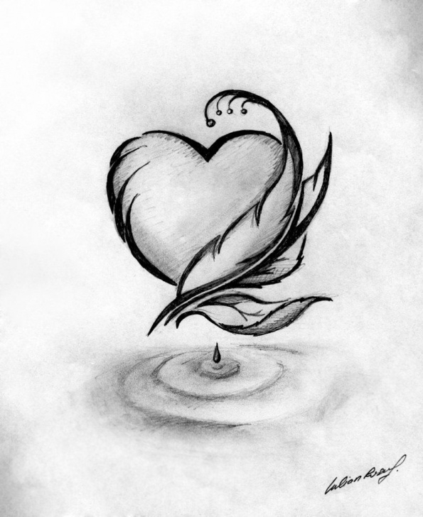 Marvelous Love Sketch Drawing Simple Love Art Sketch At Paintingvalley | Explore Collection Of Love Pics
