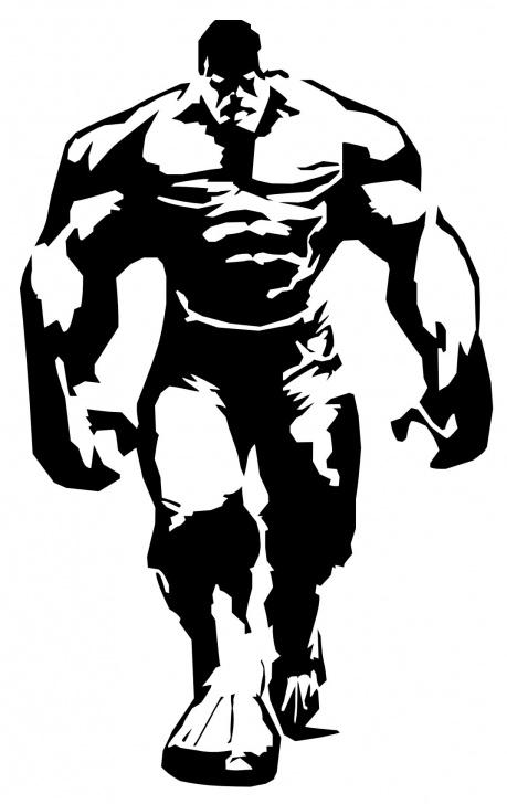 Marvelous Marvel Stencil Art for Beginners The Hulk Stencils | Super Heros | Hulk, Stencils, Incredible Hulk Image