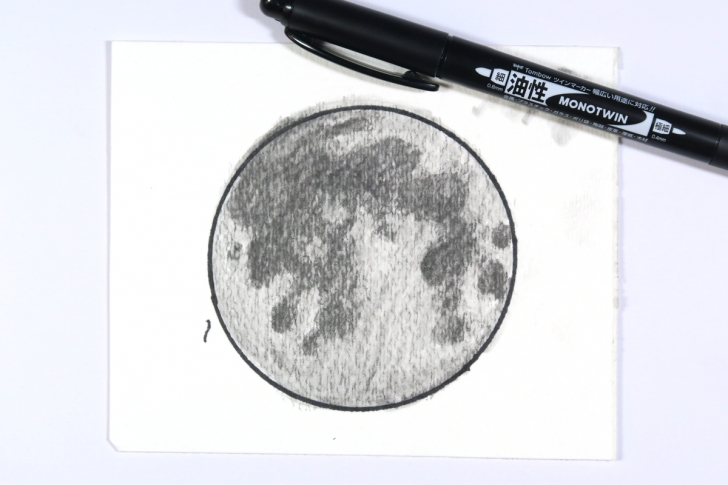 Marvelous Moon Pencil Drawing Step by Step Moon Drawing Using Tombow Mono Drawing Pencils - Tombow Usa Blog Photos