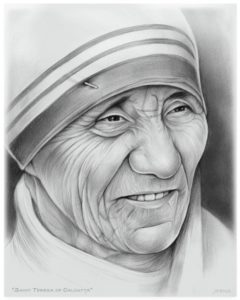 Marvelous Mother Teresa Pencil Drawing Free Mother Teresa By Gregchapin.deviantart On @deviantart   Girl Pictures