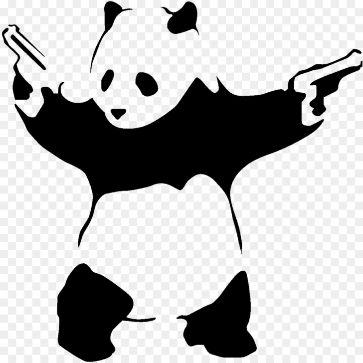 Marvelous Panda Graffiti Stencil Free Black Line Background Png Download - 1200*1200 - Free Transparent Picture