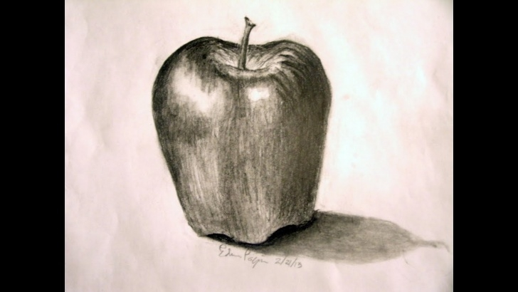 Pencil Drawing Of Apple
