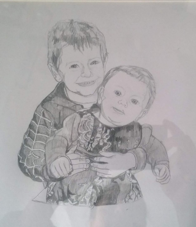 Marvelous Pencil Sketch Of Brother And Sister Tutorial Previous Commissioned Drawings – Cla Crafts Photos