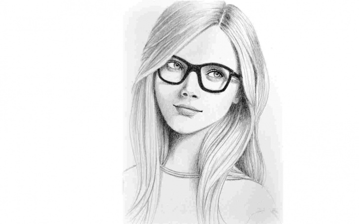 Marvelous Pencil Sketch Of Woman Face Simple Pencil Sketch Of Girl With Camera Sketch Face Cute Woman Portrait Pics