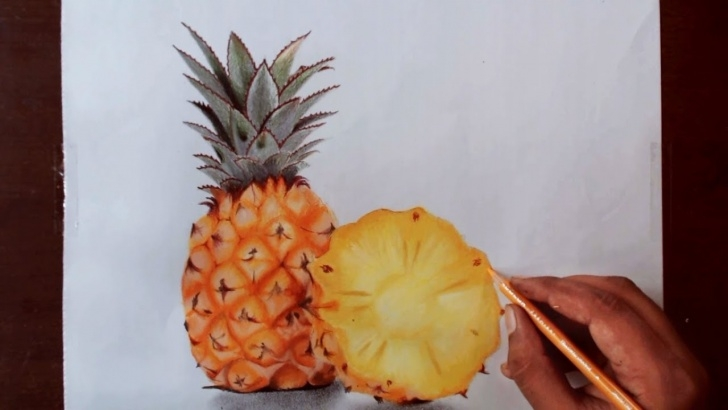 Marvelous Pineapple Pencil Drawing Techniques Drawing Pineapple - Prismacolor Pencils Picture