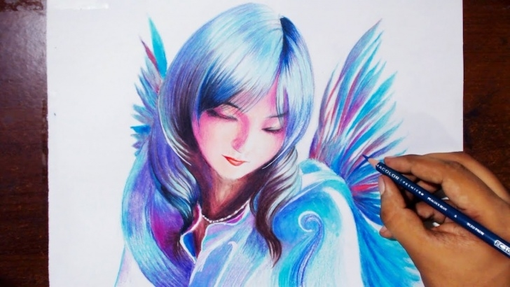 Marvelous Prismacolor Pencil Drawings Ideas Drawing A Bird Fairy - Prismacolor Pencils - Speed Drawing Photo