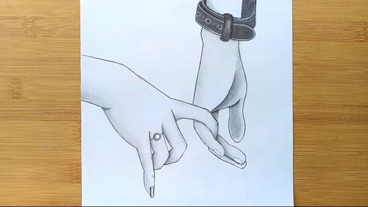 Marvelous Romantic Couple Pencil Sketches Ideas Romantic Couple Holding Hands Pencil Sketch || How To Draw Holding Hands Pictures