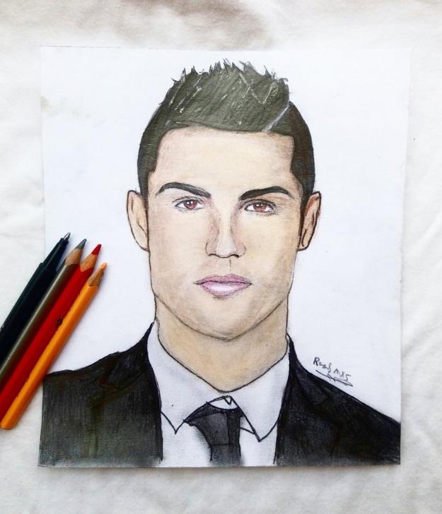 "Marvelous Ronaldo Pencil Sketch Courses Cristiano Ronaldo Pencil Sketch And Raouf Mxs On Twitter: ""my Pic"