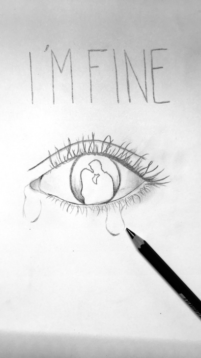 Marvelous Sad Drawings In Pencil Free Me All The Time | Drawing | Sad Drawings, Drawings, Pencil Art Pics