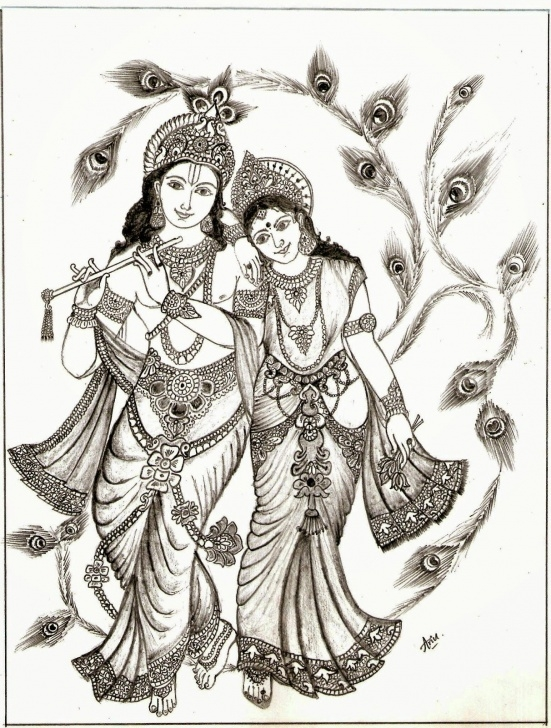 Marvelous Serial Radha Krishna Pencil Sketch Tutorials Radha Krishna Picture Drawing | Drawing Images | Folkart In 2019 Image