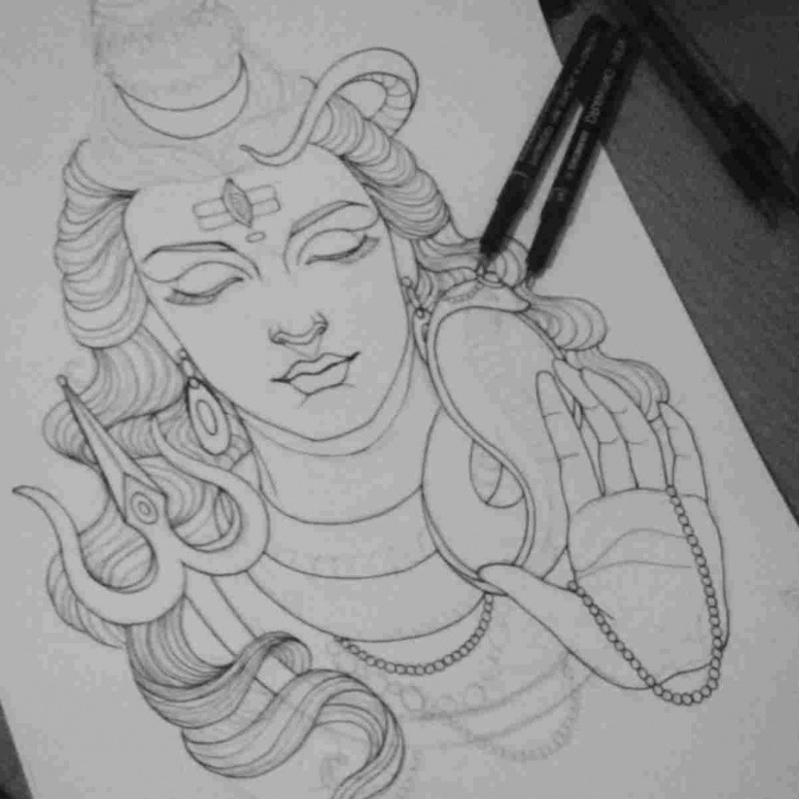Marvelous Shiva Pencil Art Simple Shiva Drawing At Paintingvalley | Explore Collection Of Shiva Picture