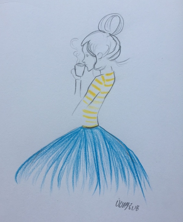 Marvelous Simple Colored Pencil Drawings Lessons Isn't It Cute And Simple Color Pencil Sketch Bangalore Mornings Picture