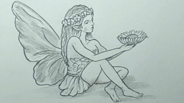 Marvelous Simple Pencil Drawings Of Fairies Tutorials Pencil Drawings Easy - How To Draw A Realistic Fairy Step By Step Picture