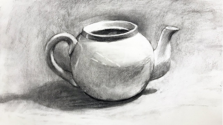 Marvelous Simple Still Life Drawing Techniques Still Life #101 - Drawing From Observation Of A Teapot In Charcoal Pic