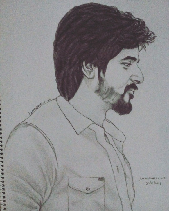 Sivakarthikeyan Pencil Drawing