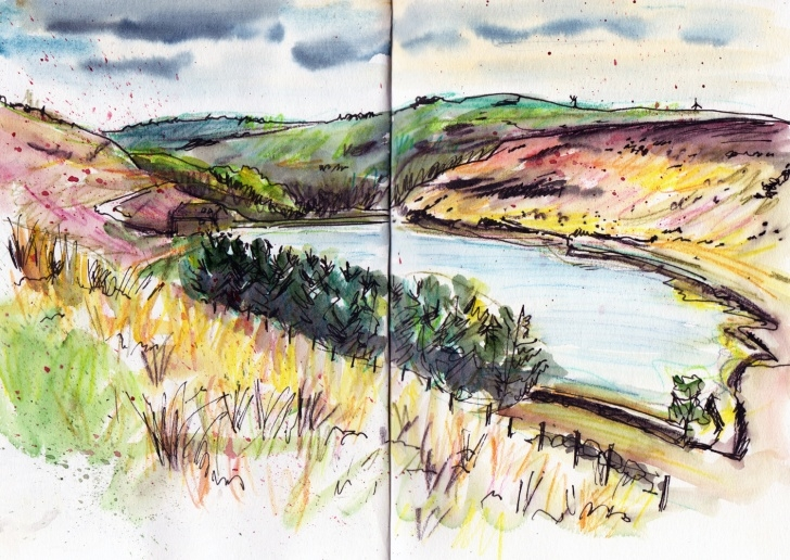 Marvelous Sketch Landscape Step by Step Quick Landscape Sketches In Pen, Inktense Pencils And Watercolour Images