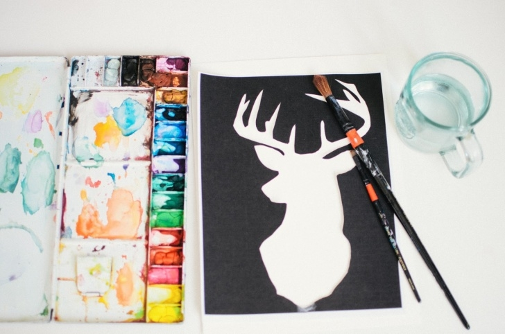 Marvelous Stencil Art Diy Tutorial P.s.♡: Diy : Watercolour Stencil Art Photo