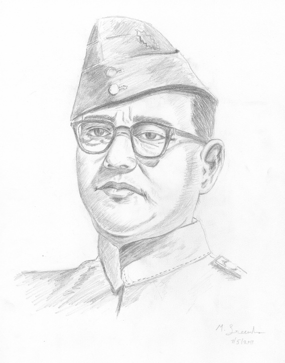 Marvelous Subhash Chandra Bose Pencil Drawing Lessons Subhash Chandra Bose - Mandolin Sisters Image