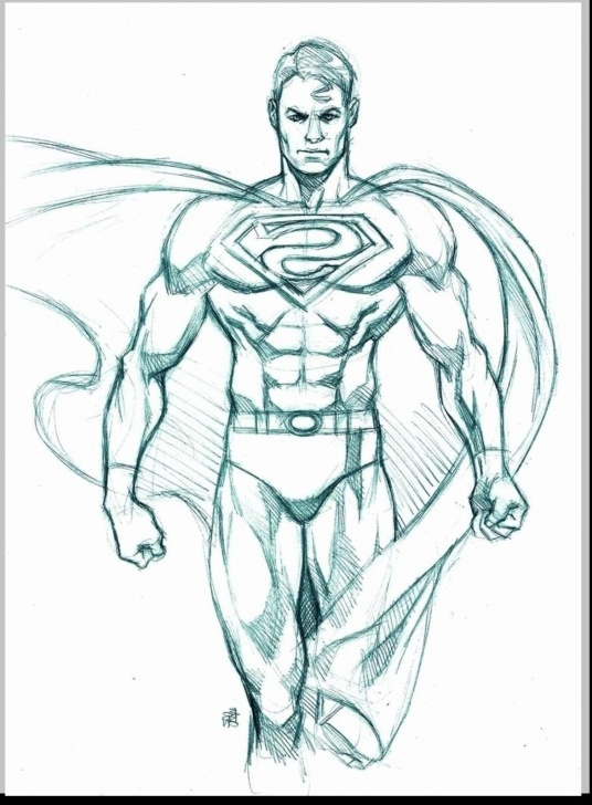 Marvelous Superman Pencil Drawing Courses Superman Pencil Sketch At Paintingvalley | Explore Collection Of Image