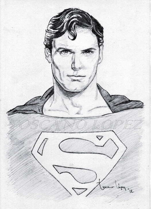 Superman Pencil Sketch