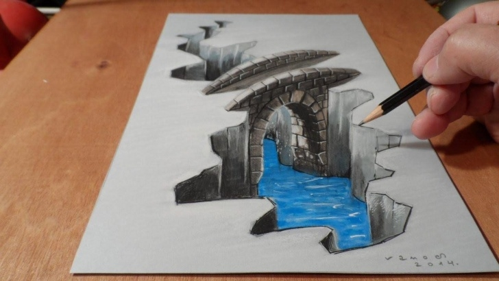 Most Inspiring 3D Painting On Paper With Pencil for Beginners 3D Art ! On In 2019 | How To Draw | 3D Drawings, 3D Art Drawing Image