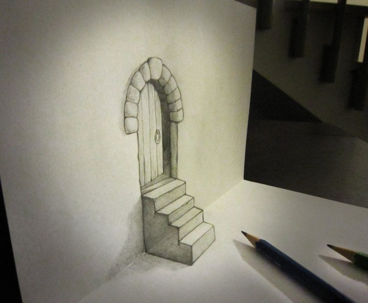 Most Inspiring 3D Painting On Paper With Pencil Tutorial 16 Creative 3D Drawings On Paper | Design | 3D Pencil Drawings Images