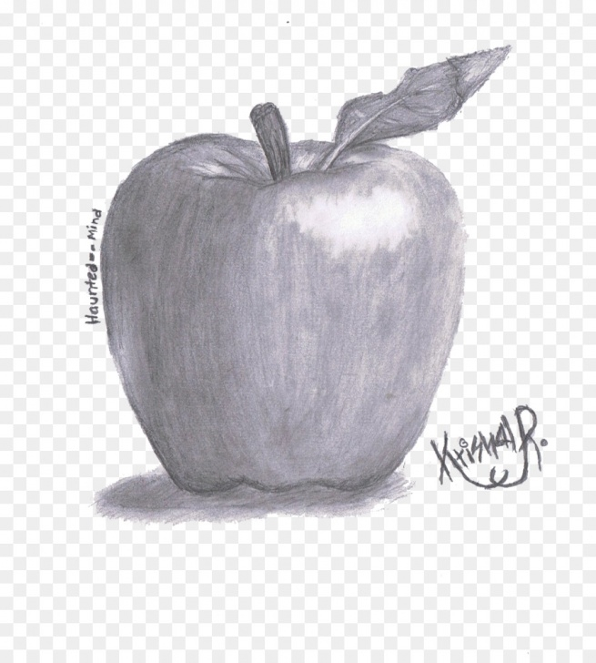 Most Inspiring Apple Still Life Drawing Lessons Pencil Cartoon Png Download - 900*987 - Free Transparent Apple Photos