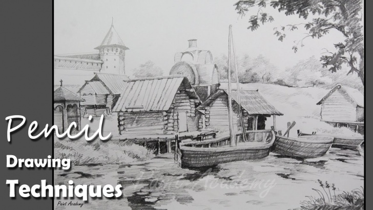 Most Inspiring Beautiful Pencil Drawings Of Scenery Lessons Pencil Drawing Techniques | How To Draw A Beautiful Landscape | Step By Step Image