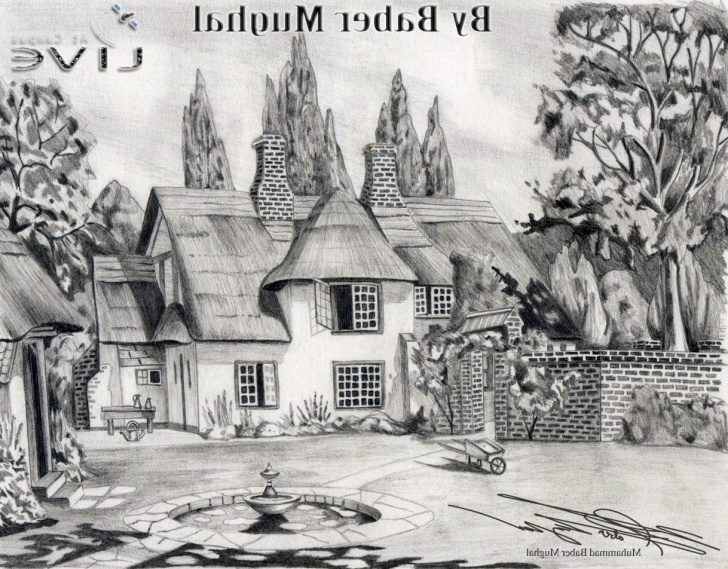 Most Inspiring Beautiful Scenery Pencil Sketch Free Pencil Sketch Scenery At Paintingvalley | Explore Collection Of Picture
