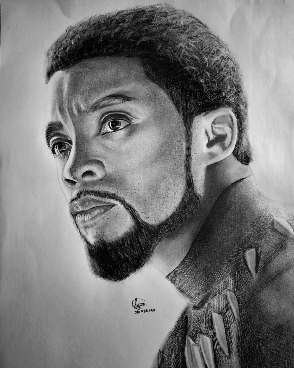 Most Inspiring Black Pencil Drawing Free Pencil Drawing Of Black Panther (Chadwick Boseman) | Arts And Ocs Picture