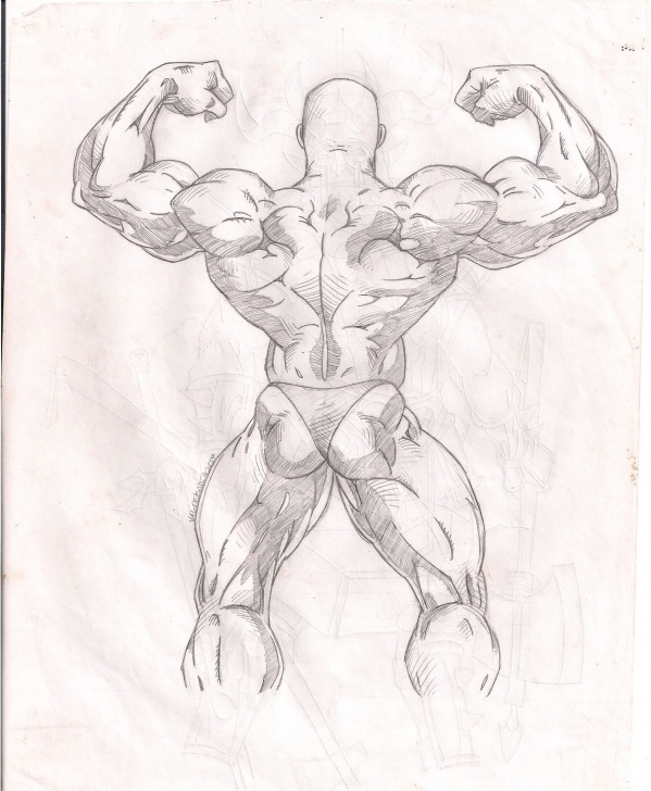 Most Inspiring Bodybuilder Pencil Sketch for Beginners Muscle - Sketch De Anatomia. #muscles #anatomia #strongman Picture