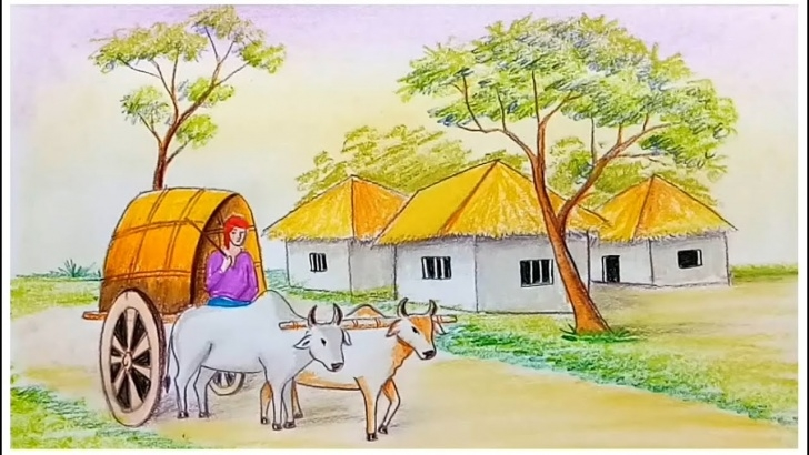 Most Inspiring Bullock Cart Pencil Drawing Step by Step How To Draw Scenery Of Bullock Cart Step By Step Photo