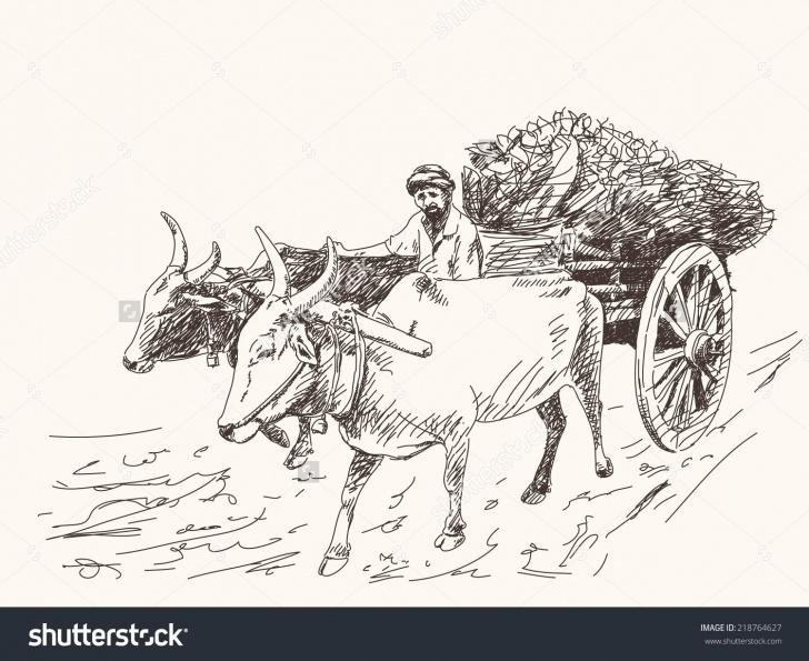Most Inspiring Bullock Cart Pencil Drawing Techniques for Beginners Asian Farmer Riding On Ox Cart Stock Vector 218764627 - Shutterstock Photos