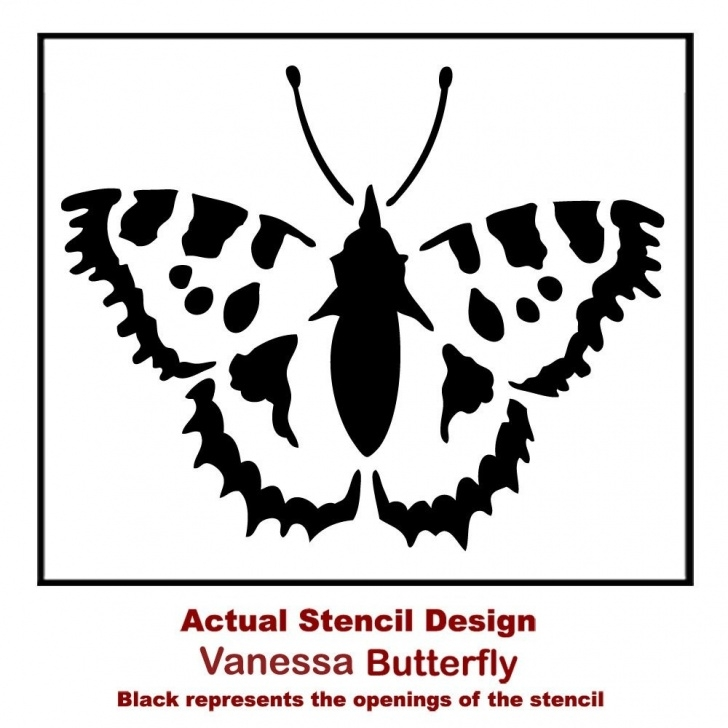 Most Inspiring Butterfly Stencil Art Tutorials Vanessa Butterfly Wall Stencil - Butterfly Stencils For Walls, Funriture,  And Diy Crafts! Pic