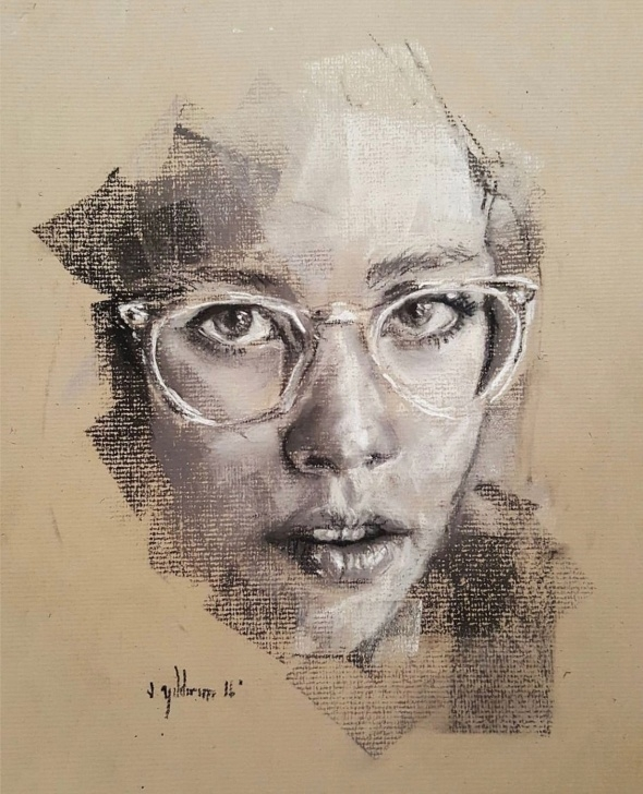 Most Inspiring Cool Portrait Drawings Simple Art #sanat #portrait #portre #paint #painting #creative #face Pics