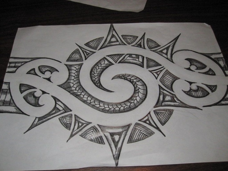 Most Inspiring Design Pencil Sketch Lessons Deviantart: More Like Maori Inspired Tattoo Design. Pencil Sketch Picture
