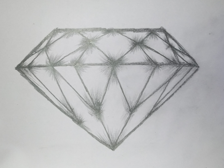 Most Inspiring Diamond Pencil Drawing Lessons Diamond Art By Mlspcart On Dribbble Image