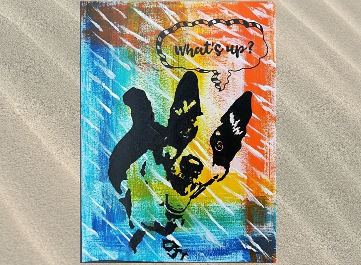 Most Inspiring Dog Stencil Art Free Sac: What's Up Dog Stencil Acrylic Painting — Steemit Images