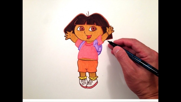 Most Inspiring Dora Pencil Drawing Tutorials How To Draw Dora The Explorer Pictures