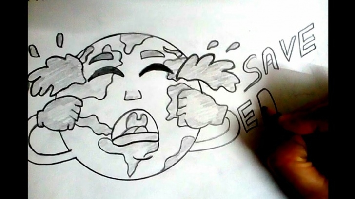 Most Inspiring Earth Pencil Drawing Easy How To Draw Save Trees Save Earth Drawing|| Earth Day Drawing Poster ||  Pencil Shading Art . Pictures