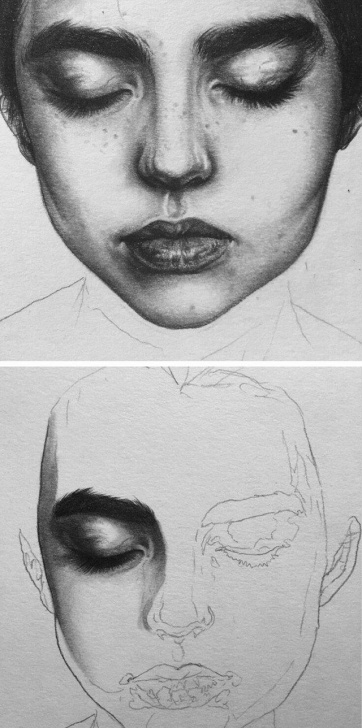 Most Inspiring Face Pencil Drawing Easy Amazing Pencil Portrait   Drawing In 2019   Pencil Portrait, Pencil Images