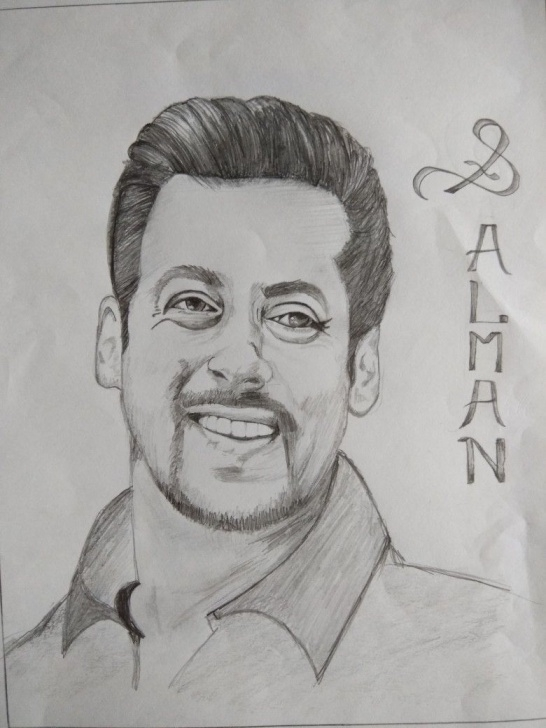 Most Inspiring Famous Pencil Drawings Techniques Salman Khan Sketch | Sketches Of Famous People In 2019 | Sketches Photo