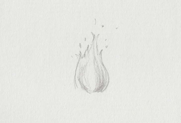 Most Inspiring Fire Pencil Drawing Free A Pencil Sketch Of A Campfire And How To Draw Fire: Drawing Images