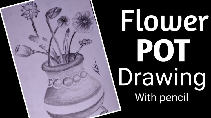 Most Inspiring Flower Pot Pencil Drawing Free Artofrohit: How To Draw Flower Pot Step By Step Tutorials Picture