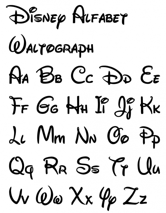 Most Inspiring Free Printable Calligraphy Letter Stencils Tutorials Free Printable Disney Letter Stencils | Writing En 2019 | Disney Pic