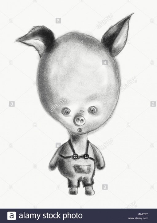 Most Inspiring Funny Pencil Drawings Courses Funny Pig With Big Head, Pencil Drawing Stock Photo: 178422996 - Alamy Picture