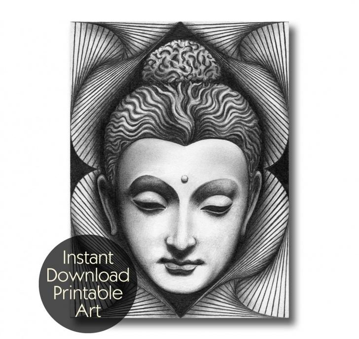 Most Inspiring Gautam Buddha Pencil Drawing Free Gautam Buddha Sketch At Paintingvalley | Explore Collection Of Pic