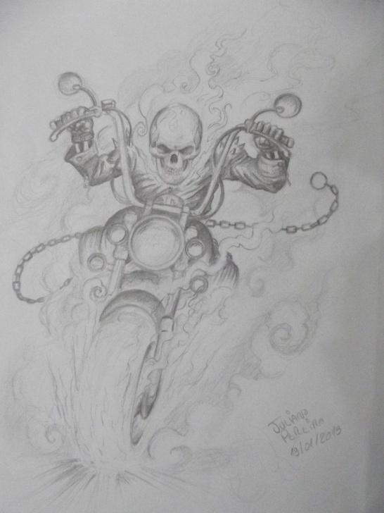 Most Inspiring Ghost Rider Drawings In Pencil for Beginners Ghost Rider Pencil By Juliano-Pereira On Deviantart | Comics Marvel Pictures