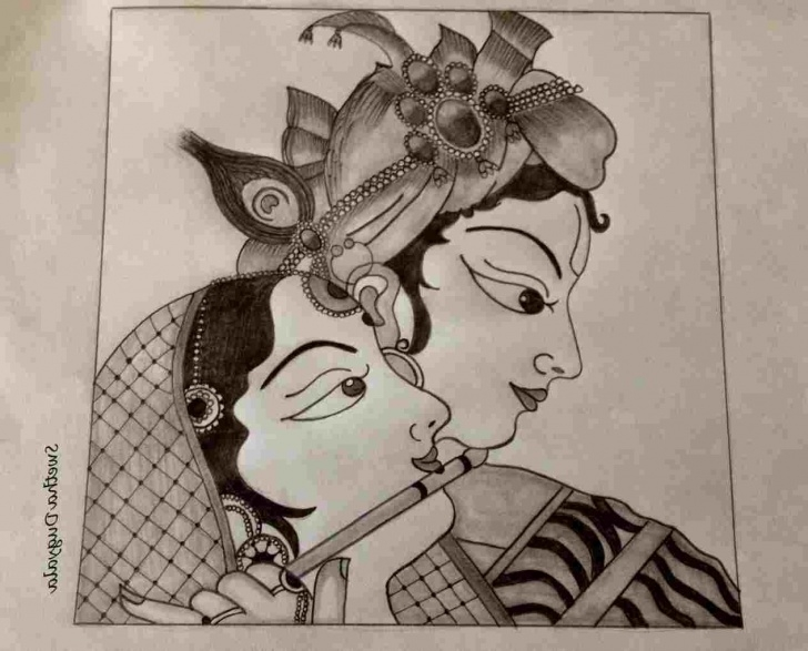 Most Inspiring God Pencil Sketch Lessons Easy Pencil Sketch Of Radha Krishna Pencil Sketches Of God Lord Pictures