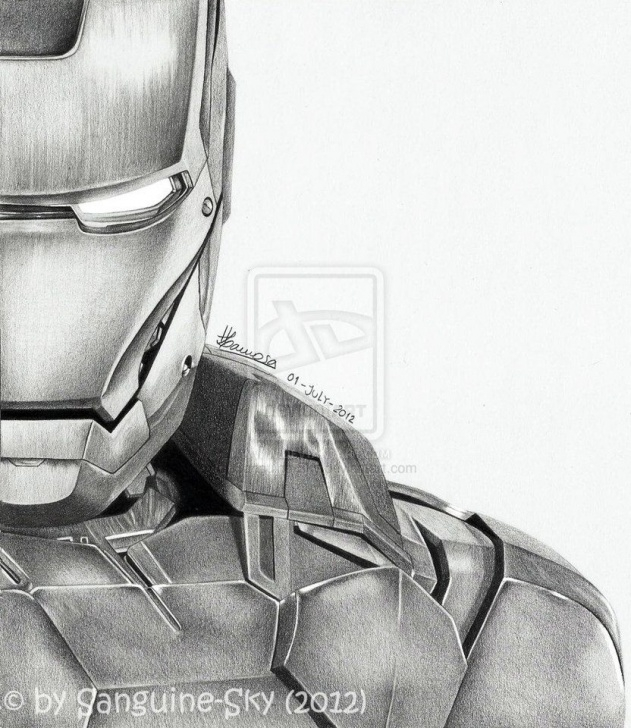 Most Inspiring Iron Man Drawings In Pencil Easy Courses The Avengers Half Series - Iron Man By ~Sanguine-Sky On Deviantart Pics